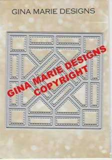 Gina Marie Metal Cutting Paper Craft Die - Quilt # 5 Stained Glass