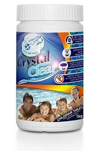 Crystal Clear Ultimate Chlorine Tablets 50 x 20g for Hot Tubs, Spa, Swimming Pools. 1kg FREE EXPRESS DELIVERY UK Mainland Only