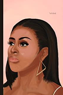 Notebook: Michelle Obama Portrait 6x9 softcover notebook (Black Heroes Inspired Journals)