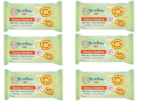 Zeus Party 3 Pacchi di Biscotti Mulino Bianco Senza Glutine Frollini al Miele Mille Fiori Confezioni da 250g