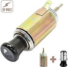 BREADEEP Car Cigarette Lighter DC 12V, Universal Auto Cigarette Lighter Replacement Socket Plug for Car, Boat, Truck, RV, ATV