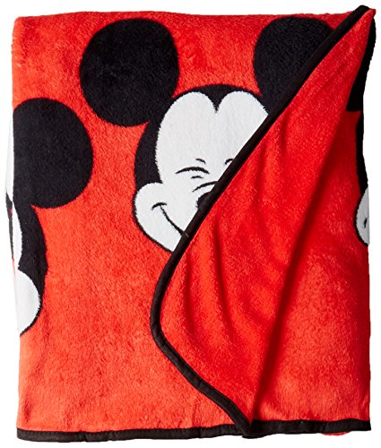 Jay Franco Plush Mickey Mouse Measures 62 x 90 inches, Kids Bedding-Fade Resistant Super Soft Fleece-(Official Disney Product), 100% Polyester, Faces Twin Blanket