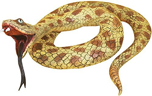 Esperando por ti Loftus International Huge Huge Huge Realistic Snake Decoration Prop, amarillo marrón, 57 by Loftus International  Más asequible