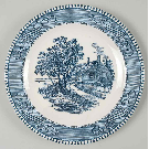 Currier and Ives Blue Salad Plate by Royal (USA) | Replacements, Ltd.