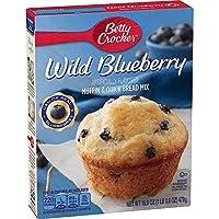 Betty Crocker ベティクロッカー ワイルドブルーベリー マフィン&クイックブレッド ミックス 479g Wild Blueberry Muffin & Quick Bread Mix -16.9oz [並行輸入品]