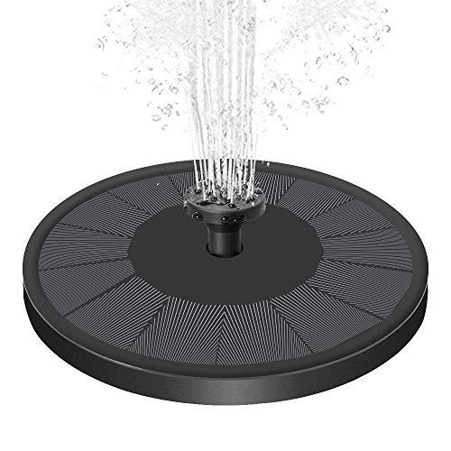 Senders Solar Springbrunnen, Solar Teichpumpe mit 3.5W Solar Panel Garten Wasserpumpe Solar Schwimmender Fontäne Pumpe für Gartenteich Oder Springbrunnen Teich Vogel-Bad Fisch-Behälter
