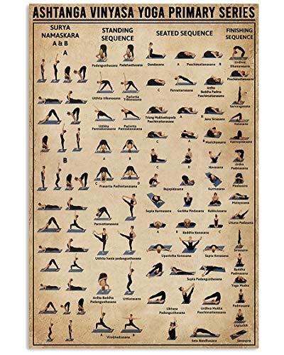 "Posters - Ashtanga Vinyasa Yoga Primary Series Vertical Poster - Poster Wall Art Print - Size 32""x48"" TAV108"
