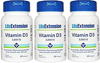 Life Extension Vitamin D3 5000 IU 180 softgels