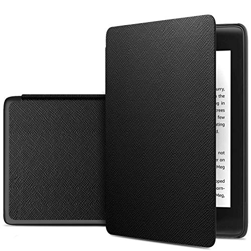 IVSO Funda Carcasa para Nuevo Kindle (10th Generation, 2019), Slim PU Protectora Carcasa Cover para Nuevo Kindle E-Reader (10ª generación, versión 2019), Black