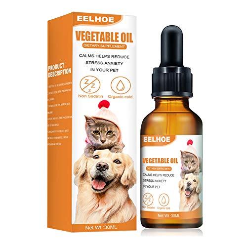 Cucheeky Aceite Calmante Para Perros Aceite Esencial Único Para La Ansiedad De Mascotas Para Mascotas, Gatos Y Perros.