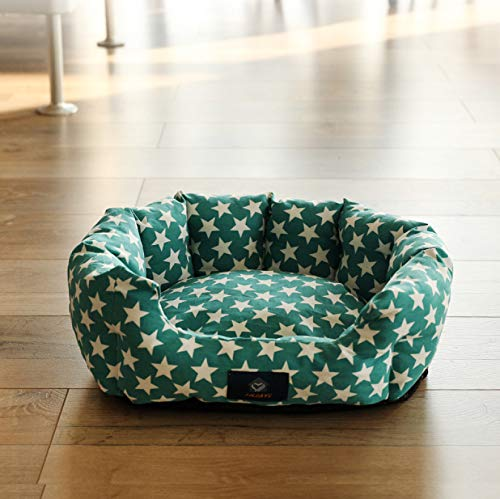 WANK Soft Breathable Round Bolster Dog Bed All Season Portable Donut Dog Cushion Bed Anti-Skid Waterproof Cat Bed for Sleep
