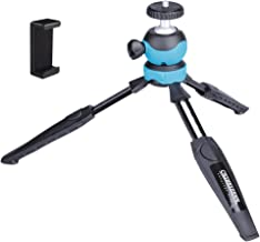 Chiheisenn Two Section Lightweight Compact Mini Desktop Tabletop Travel Tripod with Detachable 360 Degree Panoramic Ballhead for DSLR,CSC,GoPro,Video Camcorder,iPhone, Android Smartphone Etc,Blue.