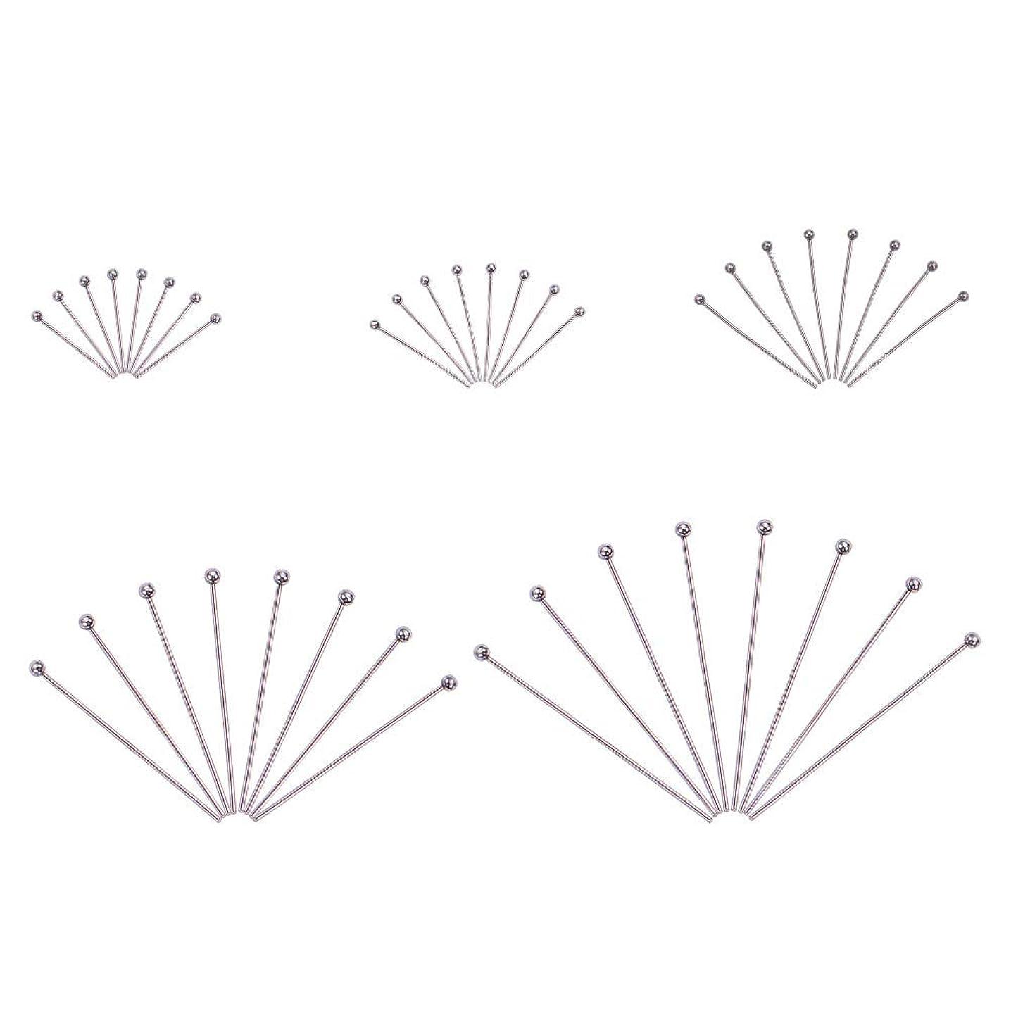 "PH PandaHall 500PCS 5-Sizes Stainless Steel Ball Head Pins Ball Headpins Ball Pins for DIY Jewelry Making(0.7"", 0.8"", 1"", 1.2"", 1.5"")"