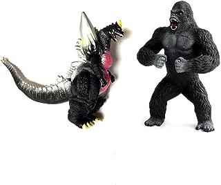 YODE 2Pcs Movie Godzilla vs King Kong Action Figure PVC Dinosaur Model Collection Toy