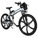 ANCHEER 26' klappbares E-Bike, Elektrofahrrad, Faltbares Pedelec Herren Damen mit 250W Motor, 36V...