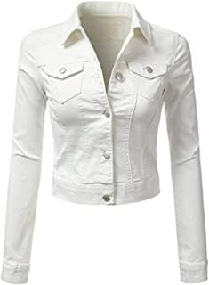 doublefive Women's Classic Casual Distressed Vintage Denim Jeans Jacket/Vest Sleeveless