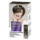 Schwarzkopf - Nuance Suprême - Coloration Cheveux - Ton sur Ton - Châtain 4-0 - Etui 60 ml