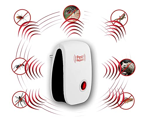 CAVATTI Ultrasonic Pest Repeller to Repel Rats, Mosquito, Home Pest & Rodent Repelling Aid for Mosquito, Cockroaches, Ants Spider Insect Pest Control Electric Pest Repelling Machine (Pack of 1)