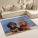COOSUN Alfombra de perro salchicha antideslizante para salón, dormitorio, 91,4 x 61 cm (91,4 x 61 cm)