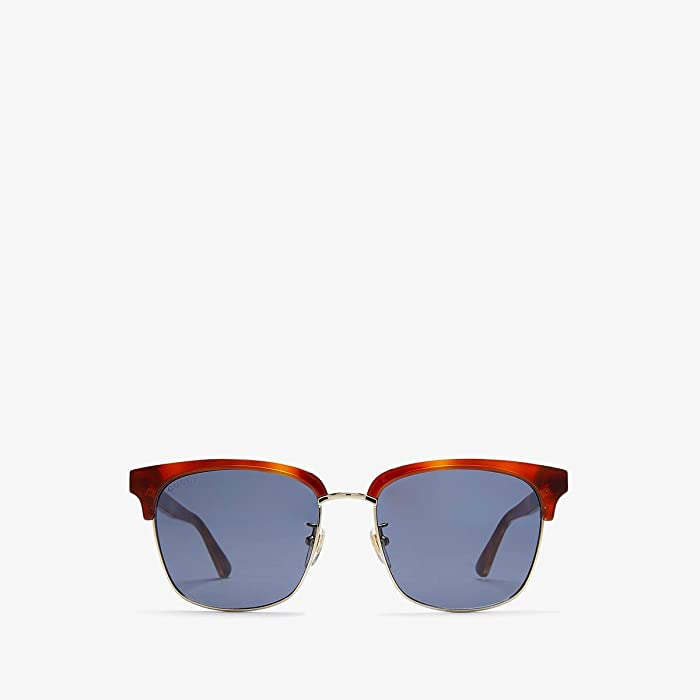 Gucci  GG0382S (Blonde Havana/Blue) Fashion Sunglasses