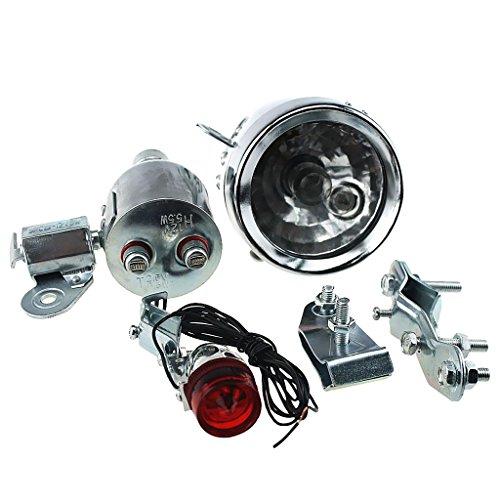 Gazechimp LED Phare Vélo Dynamo 12v 6w Avec Kit De Lumière De Queue