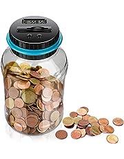 LarmTek Spaarpot met LCD-display, automatische munttellerpot, spaarpot met grote capaciteit, digitale spaarpot