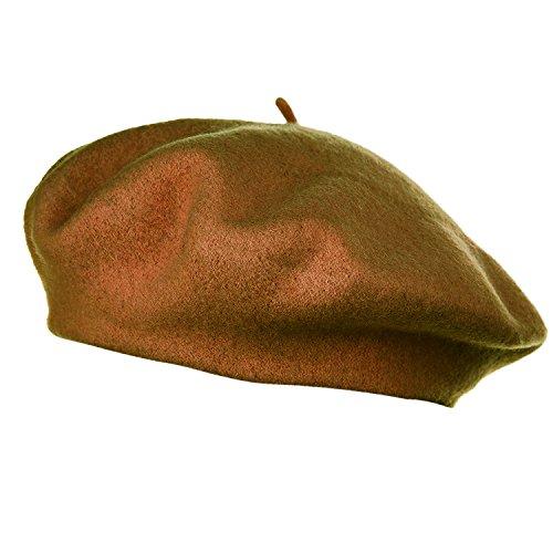 HowYouth HowYouth 1940er Jahre Vintage Classic Französisch Künstler Einheitsgröße Wolle Baskenmütze Mütze Unisex Beanie Mütze (Kamel)