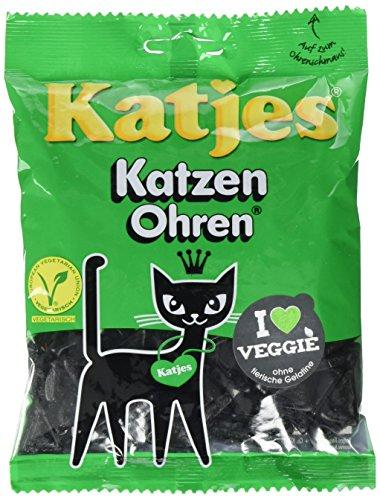 Katjes Katzen Ohren – Kultige Lakritz Süßigkeit mit Kräutern – Der Klassiker unter den Süßigkeiten (20 x 200 g)