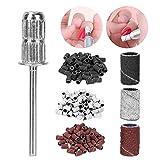 Herramienta de manicura y pedicura, 210 piezas universales 80/120/180 Juego de bandas de lijado de uñas para brocas de uñas