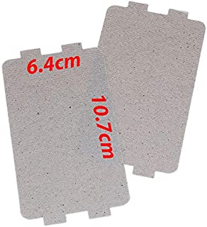 Rubik Large Microwave Waveguide Cover Plates MICA Sheet for Microwave Oven Filter, Pre-cut (10.7x6.4cm) Pack of 2pcs