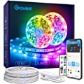 Govee Wi-Fi LED Strip Lights Works with Alexa Google Home, 32.8ft Smart Light Strip with APP and Remote Control, Upgraded Music Sync RGB Color Changing LED Lights for Bedroom, Room, Kitchen, Party