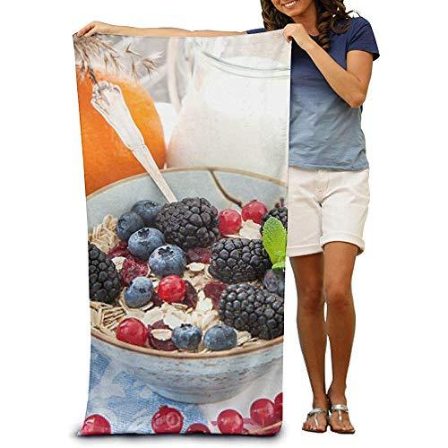 utong 100% Baumwolle Strandtücher 80x130cm Quick Dry Handtuch für Schwimmer Salat Naturfrüchte Stranddecke