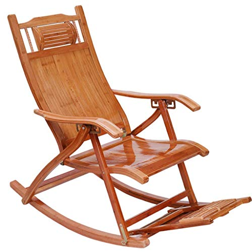 MNBV Recliners Bamboo Rocking Chair Adult Folding Chair Home Napping Chair Cool Chairs Old Man Chair Lunch Break Chair