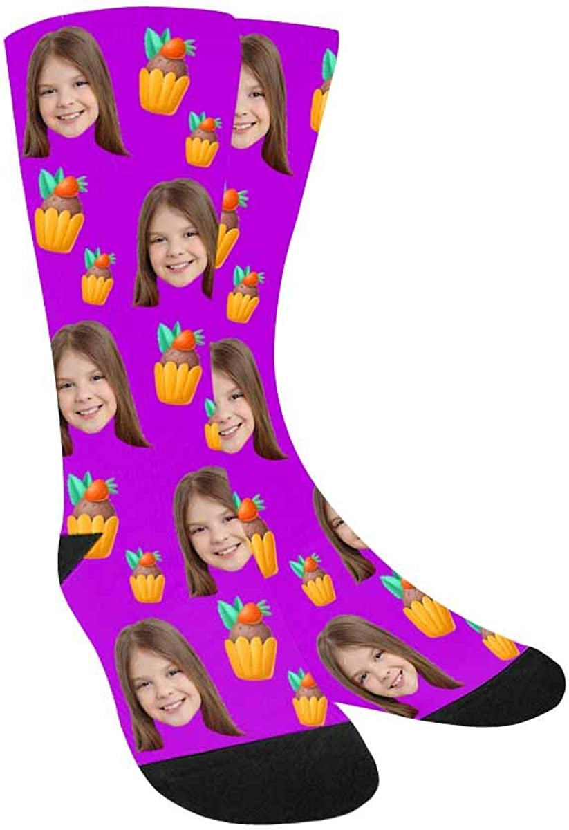 Custom Personalized Printed Photo Socks, Turn Your Picture Face