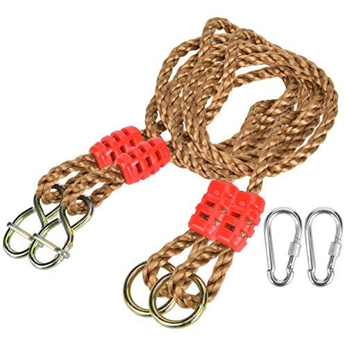FOLOSAFENAR Cable de extensión de Accesorio de Columpio de Cuerda de extensión de Cuerda de 6 Hilos y 3 Nudos, para Juegos de niños