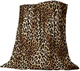 Fleece Blanket Luxury Bed Fuzzy Soft Throw Lightweight Microfiber Blankets for Bed, Couch or Travel,Leopard Print (30 x 40 Inches)