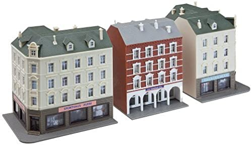Faller 232266 Row Of Town Houses (2 Corner & 1 Terrace) Era Ii by Faller