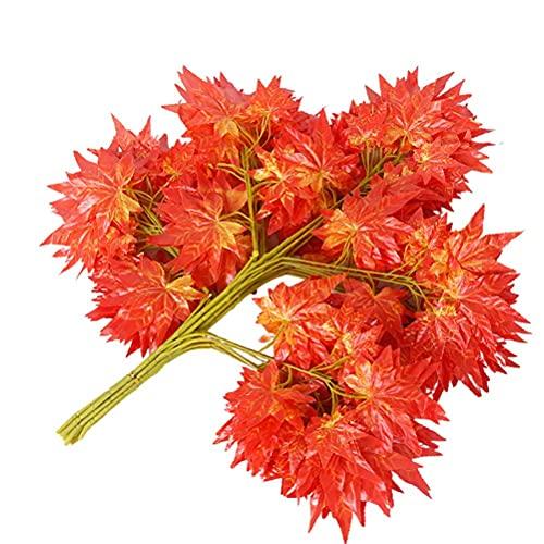 12 ramas artificiales de hojas de arce, hojas de eucalipto para decoración de Acción de Gracias