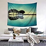 Sea Guitar Tree Tapestry Wall Hanging, Art Decor Home Decoration for Living Room Bedroom Children's Room Apartment Dorm 60 X 51 Inches