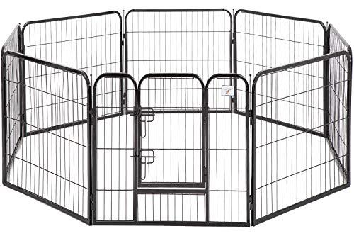 """BestPet Pet Playpen Dog Kennel 8 Panel Indoor Outdoor Folding Metal Protable Puppy Exercise Pen Dog Fence,24"""",32"""",40"""""""