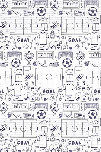 Fussball Muster - Torhüter Stürmer Fans Verein 08: Unliniertes Notizbuch mit Rahmen für Fußballspieler und Fußballfans