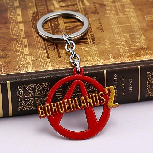 AMITD Schlüsselbund Schlüsselring Online Fps Spiel Borderlands 2 Logo Schlüsselbund Für Fans Neues Borderlands Design Modell Schlüsselanhänger Geschenk