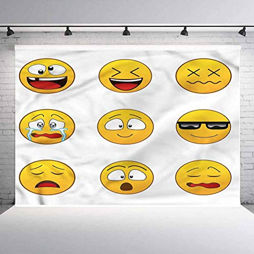 10x10FT Vinyl Wall Photography Backdrop,Furious Sad Expressions Background for Baby Shower Bridal Wedding Studio Photography Pictures