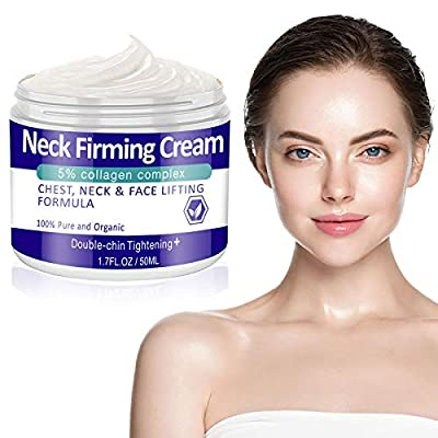 Neck Firming Cream,Anti Aging Neck & Décolleté Moisturizer Senhorita Saggy Neck Tightener & Double Chin Reducer Cream, 1.7 oz