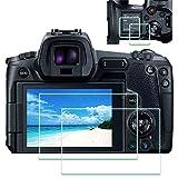 EOS R parte superior+protector de pantalla compatible con cámara Canon EOS R DSLR 2 unidades,ULBTER 0,3 mm,alta definición,dureza 9H vidrio templado,antiarañazos, antihuellas,antiburbujas,3 unidades