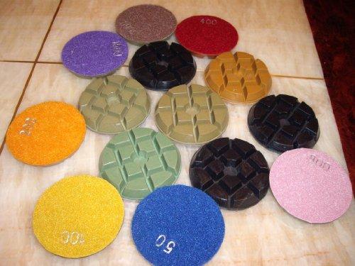 "9 Set=63 Pieces: 3"" Diamond Floor Damo Polishing Pad Concrete Terrazzo Granite"