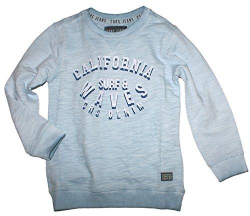 Cars Jeans Sommer Sweater in gewaschenem Hellblau aus Slub Garn Boys 3244771 (164)