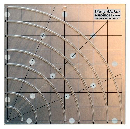 Duroedge Wavy Maker - Shape Cut, Slitted Non-Slip Ruler 8 X 8 Inch