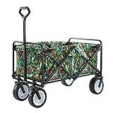 MNSSRN Multifunktionale Faltbare Picknick Wagen, große Kapazitäts verdickte Stahlrohr, verschleißfest und stabil Einkaufswagen, Außenwagen,G