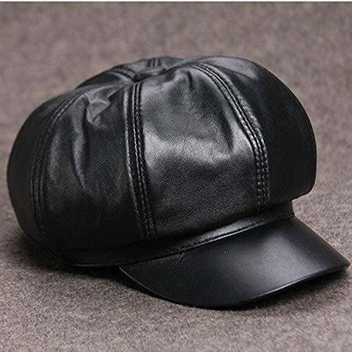SADUZI Herbst Echtes Leder Hut Damen Kappe Elegante Lady Leder Visier Trend Zungenkappen Für Frauen